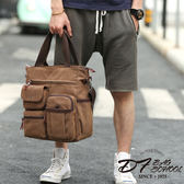 DF BAGSCHOOL - 男士商務休閒3WAYS電腦手提斜背帆布托特包-共2色