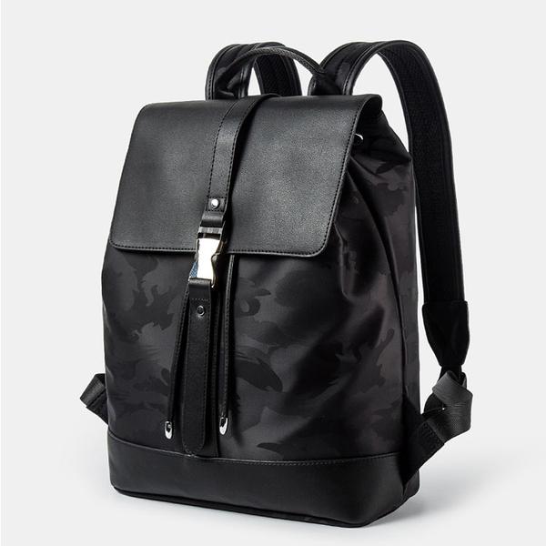 【5折超值價】經典潮流日系迷彩簡約造型防水款雙肩後背包