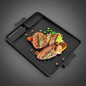 烤盤 韓式長方形韓國卡式爐烤盤麥飯石涂層便捷家用戶外燒烤爐烤肉盤鍋【早秋八八折】