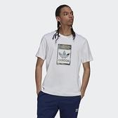 Adidas ORIGINALS 男款 白色 休閒 短袖上衣 H13500【KAORACER】