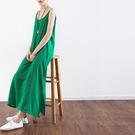 會呼吸的吊帶裙-天絲棉文藝內搭長裙寬鬆大碼/設計家