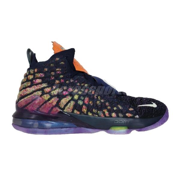 Nike 籃球鞋 LeBron XVII AS GS 17 Monstars 紫 金 女鞋 大童鞋 怪物奇兵 詹皇 氣墊 【ACS】 CW1036-400
