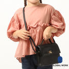 GLOBAL WORK童金屬釦仿皮革肩背小包-三色