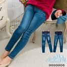 時尚顯瘦窄管設計孕婦【腰圍可調】牛仔長褲 藍【CNE256120】孕味十足 孕婦裝