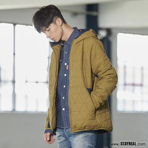 STAYREAL 拚色鋪棉外套