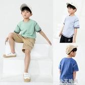 兒童短袖T恤2020春夏新款中大童洋氣上衣男童韓版潮流上衣【小艾新品】
