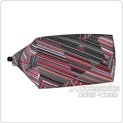 LONGCHAMP經典OP ART系列滌綸條紋設計長提把肩背包(寶石紅)