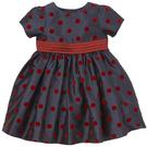 mothercare 秋冬女嬰洋裝-小奢華-藍色紅圓點(M0C0961)09M、18M、24M、36M