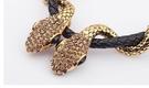 國際媒體 雙蛇 歐美項鍊  簡約百搭 場合項鍊 雙蛇 鑽石 蛇鏈 非ZARA