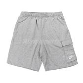 Nike 短褲 NSW Shorts 灰 白 男款 膝上 棉褲 訓練 運動 【ACS】 DD7015-063