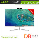 acer Aspire C24-860 i5-7200U All-In-One 桌上型電腦(23.8吋非觸控/8G/1TB+256G SSD/Win10)-送HP事務機