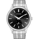 【送米奇電扇】CITIZEN 星辰 光動能小秒針手錶-黑x銀/40mm BV1119-81E