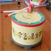 樂器鼓兒童玩具幼兒打擊樂器敲敲鼓卡通兒童鼓韓國小地鼓【快速出貨八折優惠】