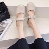 穆勒鞋包頭半拖鞋女低跟時尚韓版百搭外穿懶人鞋【慢客生活】
