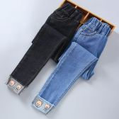 女童牛仔褲2018新款長褲中大童兒童褲子緊身10歲小腳鉛筆加絨加厚   初見居家