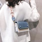 斜背包 上新質感小包包女2019新款簡約ins單肩百搭流行時尚寬帶斜挎包潮