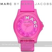 【南紡購物中心】MARC BY MARC JACOBS國際精品可愛乳牛矽膠腕錶-桃紅/42mm MBM4023