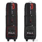 polo高爾夫航空包 加厚球包 帶滑輪golf旅行托運包飛機包QM   JSY時尚屋