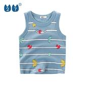 背心 男童背心2021夏季新款寶寶無袖T恤純棉洋氣兒童打底衫【快速出貨】