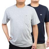 中年男士短袖t恤圓領棉夏季爸爸裝中老年人寬鬆上衣40-50歲汗衫薄