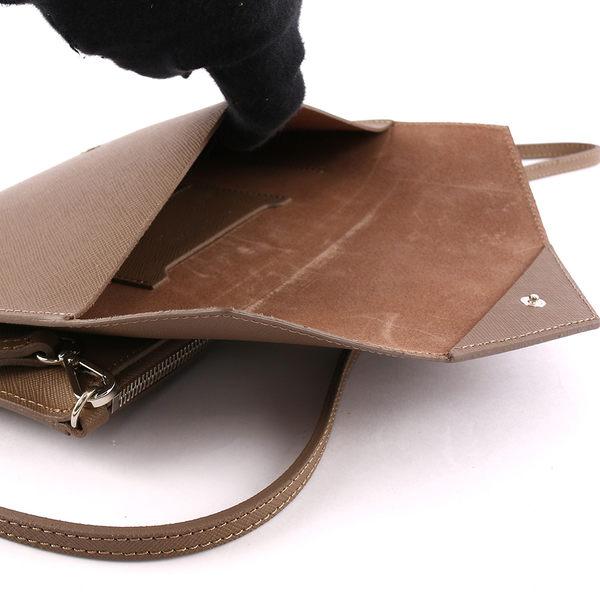 【LANCASTER】防刮牛皮信封手拿/斜背二用包(大象灰) 222-04 TAUPE