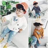618好康鉅惠新款韓版中小童卡通上衣男女寶寶寬鬆