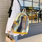 後背包 網紅書包霸氣女學生森系涂鴉迷彩後背包女耐臟高中生背包 芊墨左岸