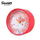【日本正版】凱蒂貓 圓形鬧鐘 造型鐘 指針時鐘 Hello Kitty 三麗鷗 Sanrio - 224697