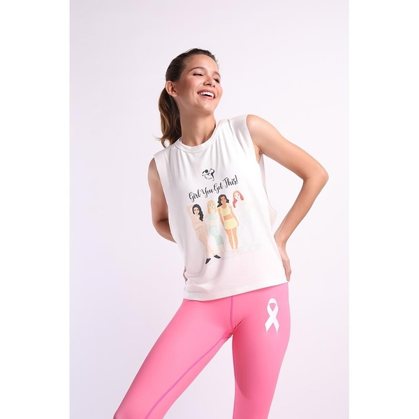 【南紡購物中心】【Flexi Lexi】Girl You ve Got This Tank Top 瑜珈罩衫