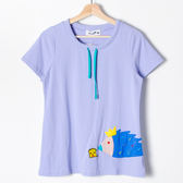 【Dailo】刺蝟造型圓領上衣-紫  10506