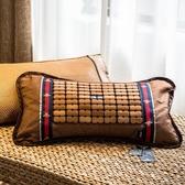 麻將枕茶香枕助睡眠茶枕蕎麥皮殼茶葉護頸椎冰絲藤枕竹枕 QQ24563『MG大尺碼』
