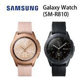 三星 SAMSUNG Galaxy Watch(SM-R810)42mm-黑/玫瑰金[24期0利率]《送早鳥上市禮-手工皮革錶帶》