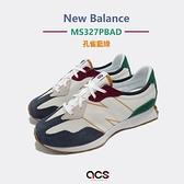 New Balance 童鞋 327 寬楦頭 大童 小學 7-14歲 米 綠 休閒鞋 【ACS】 GS327HH1-W