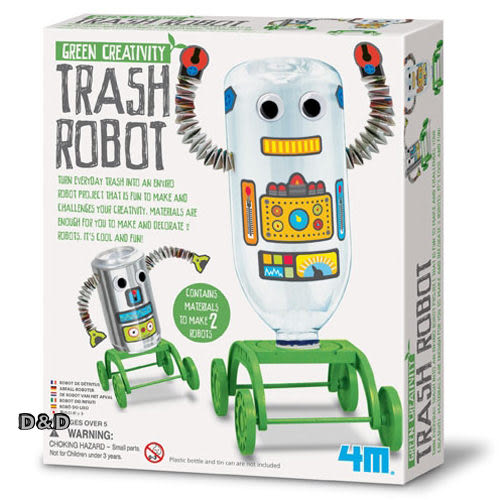 《4M美勞創作》Trash Robot 趣味寶特瓶機器人   ╭★ JOYBUS玩具百貨