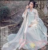 漢服女襦裙中國風漢元素改良古裝齊胸襦裙古風【聚可愛】