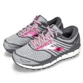 BROOKS 慢跑鞋 Ariel 18 2E 超寬楦 灰 粉紅 DNA動態避震科技 運動鞋 女鞋【PUMP306】 1202712E091