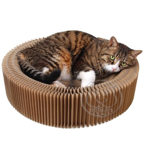 【🐱🐶培菓寵物48H出貨🐰🐹】dyy》瓦楞紙手風琴貓抓板52*16*7CM