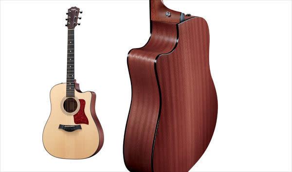【金聲樂器廣場】全新 Taylor 310CE 缺角全單板電木吉他 桃花心木 附原廠硬箱
