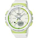 BGS-100-7A2 白X綠   BABY-G  Step Tracker 健康管理計步運動錶