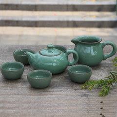 龍泉青瓷 汝窯 陶瓷 紫砂過濾茶壺  功夫茶具 八件套梅子青