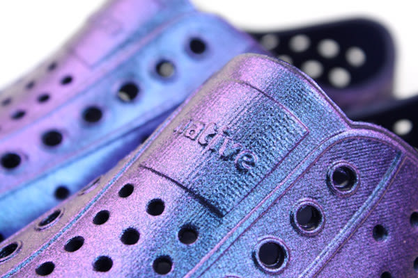 native JEFFERSON 懶人鞋 洞洞鞋 防水 雨天 紫色 亮面 小童 童鞋 13100104-8299 no547