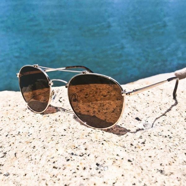 【南紡購物中心】2is JimiC 太陽眼鏡 偏光│雙樑大圓│咖啡色│抗UV400