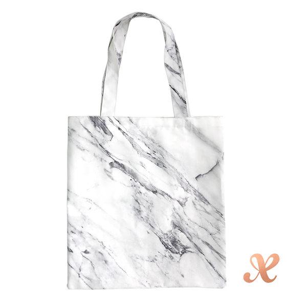 Boxtory 大理石紋帆布袋 - 白色