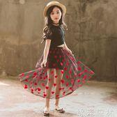 半身裙 女童短裙半身裙新款中大童韓版網紗長裙公主裙子兒童短裙 綠光森林