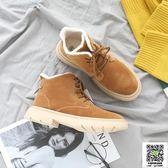 馬丁鞋 馬丁靴女2018冬季新款女學生加絨加厚保暖靴子韓版百搭鞋子 宜品