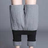 現貨XL褲子長褲實拍秋冬新款蠶絲棉加絨加厚保暖修身棉褲彈力顯瘦小腳鉛筆褲女.1F040.8082