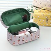 化妝包女大容量便攜韓版化妝袋簡約化妝品收納包盒小號化妝箱手提 DR7771【Rose中大尺碼】