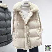 馬甲 羽絨棉馬甲女秋冬裝新款韓版寬鬆短款坎肩馬甲加厚面包服外套 歐歐流行館