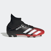 Adidas Predator 20.3 Fg J [EF1930] 大童鞋 運動 足球 柔軟 中筒 釘鞋 愛迪達 黑紅