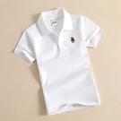 純棉兒童短袖T恤白色中大童裝女童男童夏裝新款背心寶寶POLO襯衫有領吸汗舒適2021新款